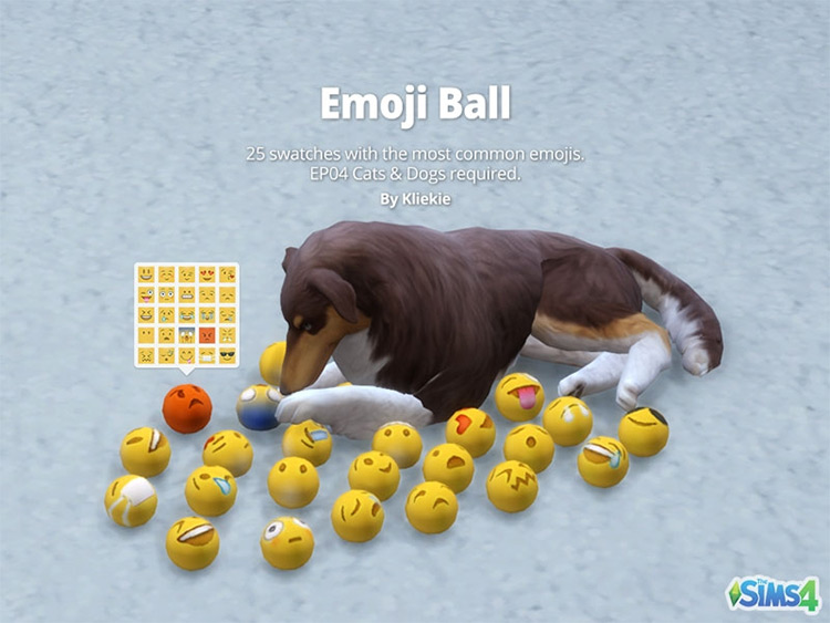 Emoji Ball for The Sims 4