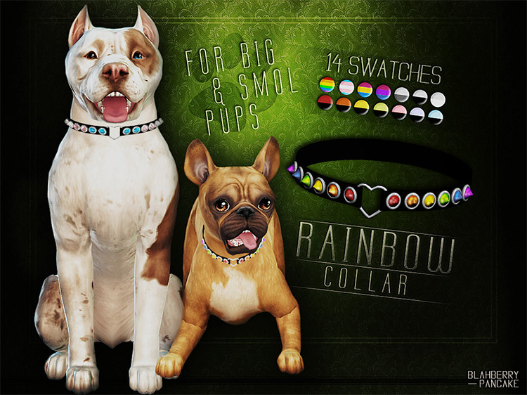 Rainbow Collar TS4 CC