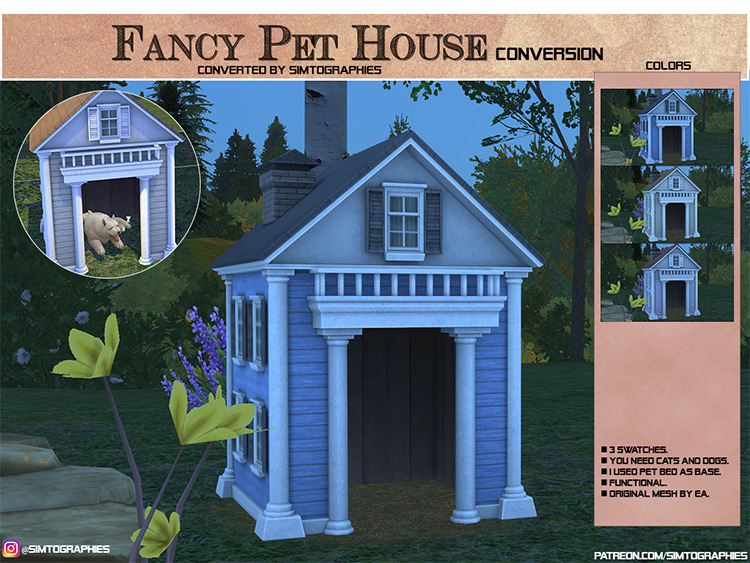 Fancy Pet House for Sims 4
