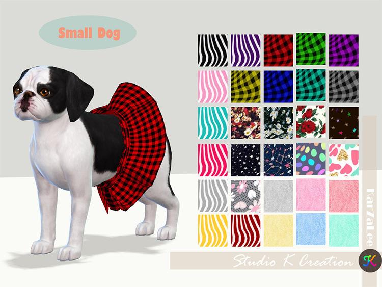 Small Dog Dress / Sims 4 CC