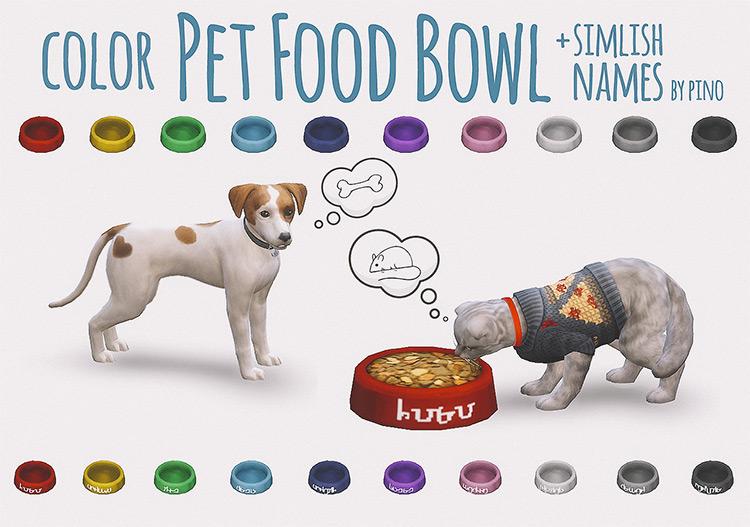 Colorful Pet Food Bowl / TS4 CC