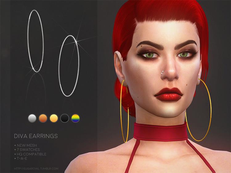 Diva Earrings for Sims 4