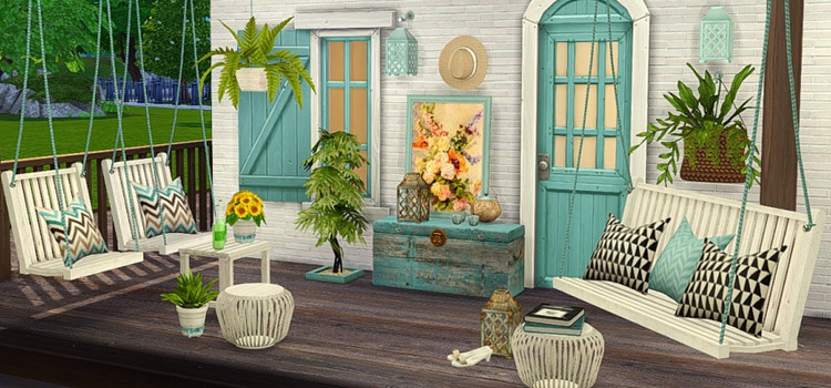 TS4 Breezy porch swing seating CC