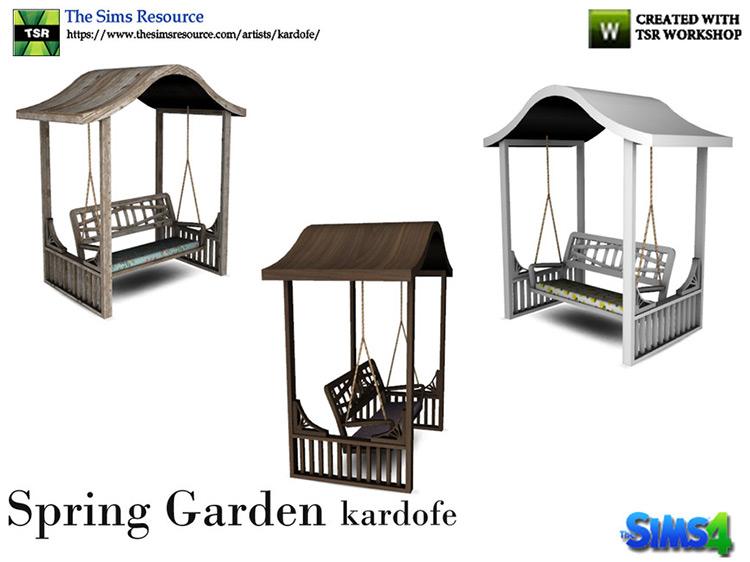 Spring Garden Loveseat for Sims 4