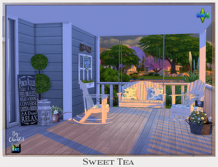 Sweet Tea Porch Set TS4 CC