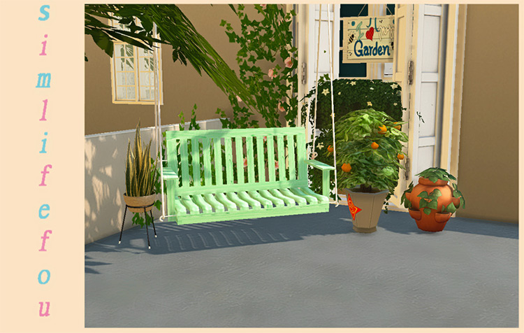 Porch Swing (TS2 Conversion) for Sims 4