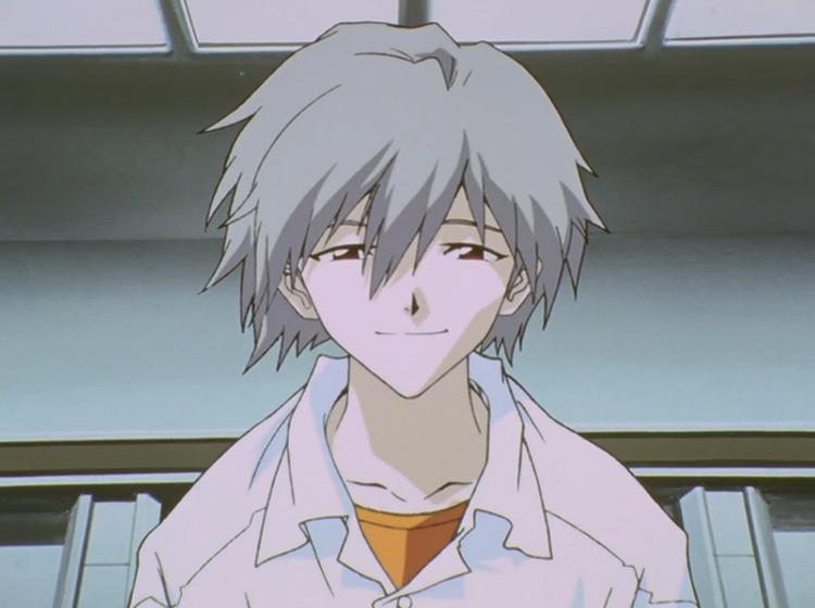 Kaworu Nagisa in Neon Genesis Evangelion anime