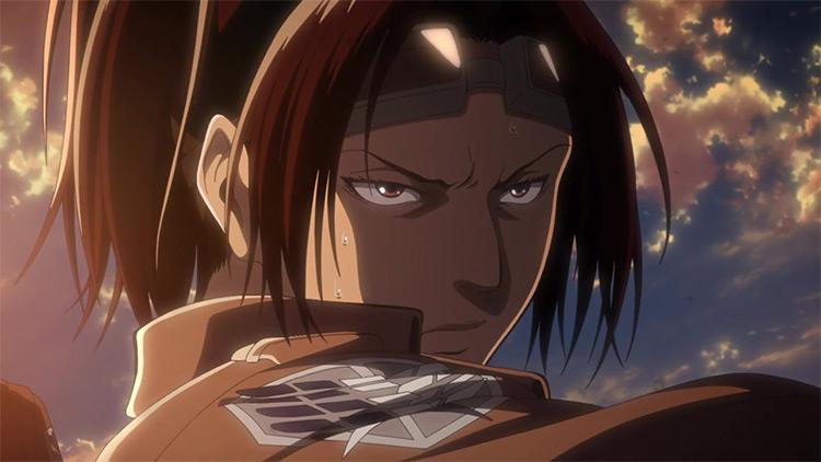 Hange Zoë in Attack on Titan anime