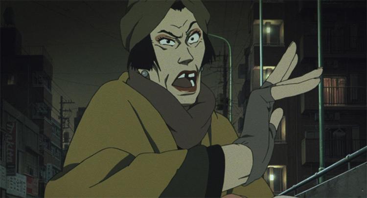 Hana in Tokyo Godfathers anime