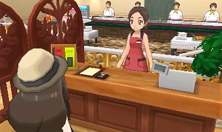 Battle Buffet Interior in Pokemon Sun