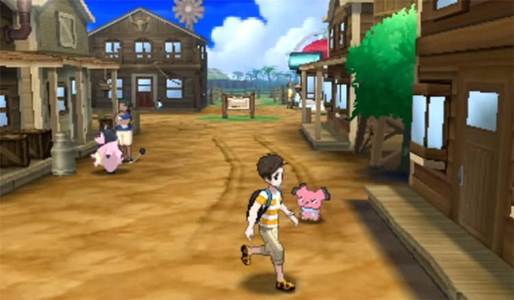 Paniola Ranch in Pokemon Sun