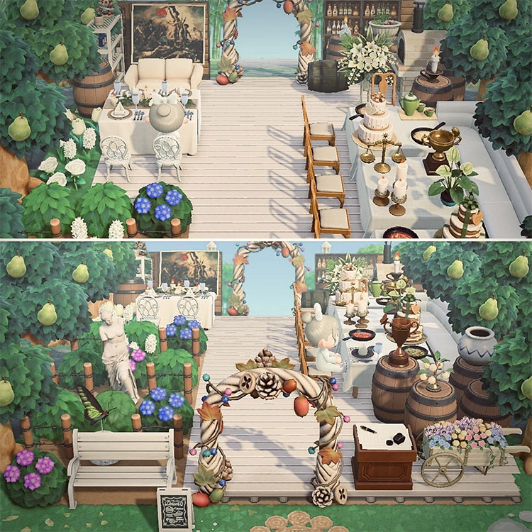 Winery in the woods for a wedding / ACNH Idea