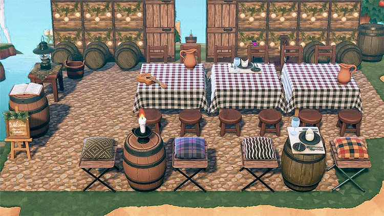 Seaside winery and restaurant idea - ACNH