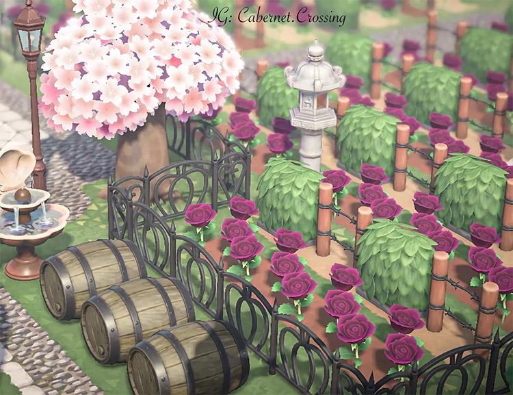 HD Screenshot of a vineyard in ACNH