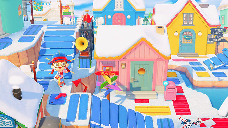 Bright and colorful suburbs idea for ACNH