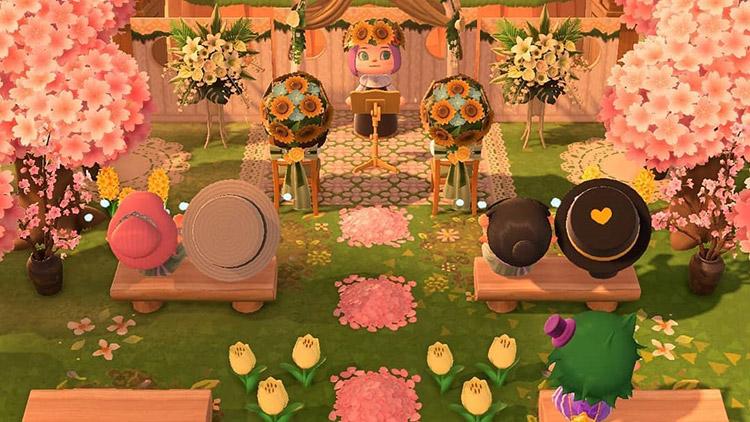 Sunset golden hour wedding screenshot in aCNH