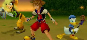 KH2.5 HD Screenshot of Sora, Goofy and Donald