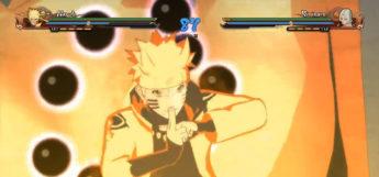 Naruto battle scene video game screenshot