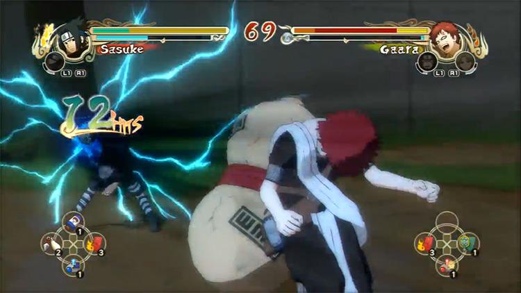 Captura de pantalla del juego en vivo Naruto: Ultimate Ninja Storm