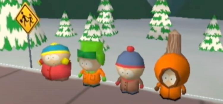South Park 1998 video game, retro screenshot