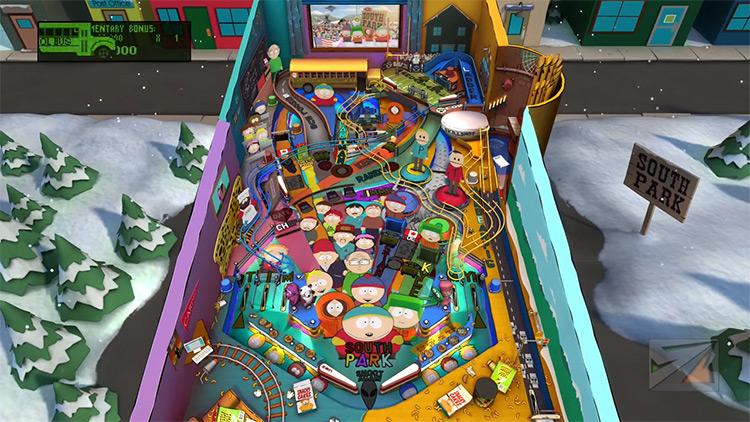 South Park Pinball Gameplay Screenshot