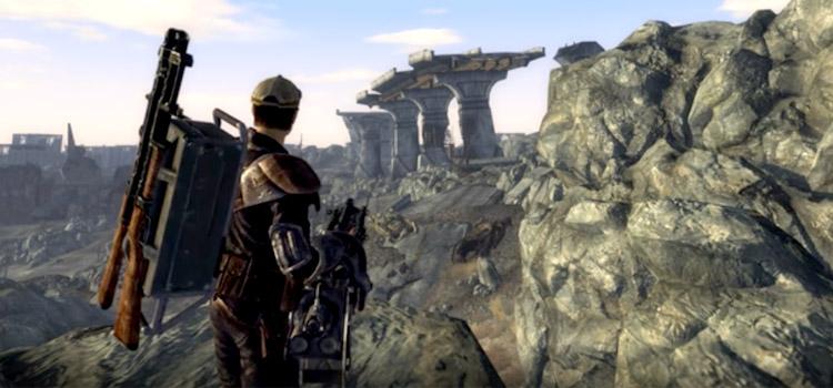 HD screenshot - Fallout 3 gattling gun weapons mod