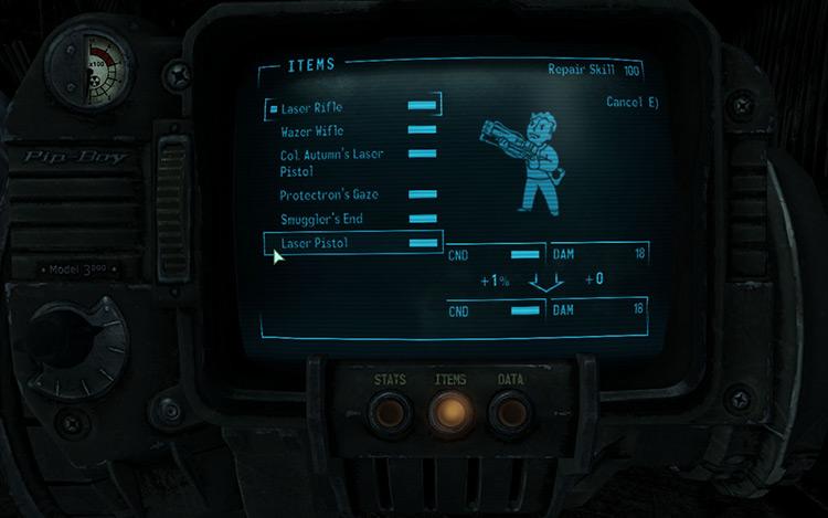 Cross Repair Weapons Fallout 3 Mod