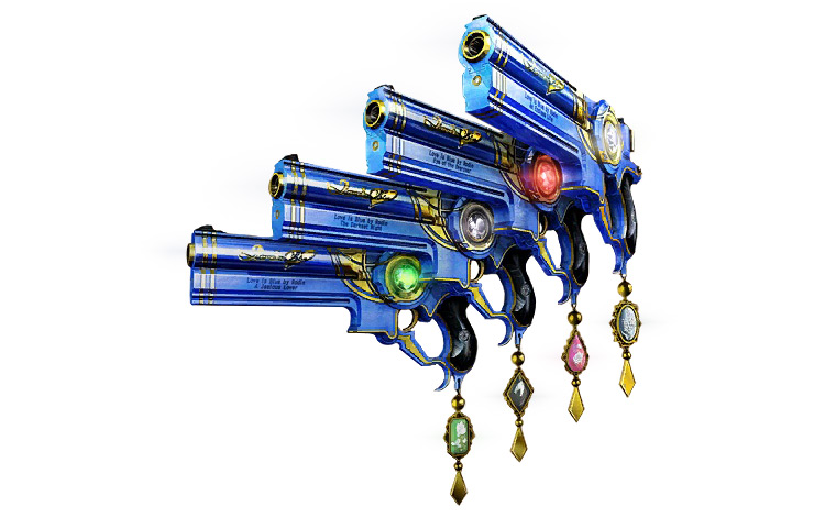 Love is Blue Bayonetta 2 weapon