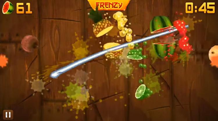 Fruit Ninja gameplay screenshot