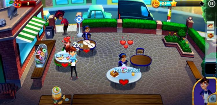 Diner Dash gameplay screenshot