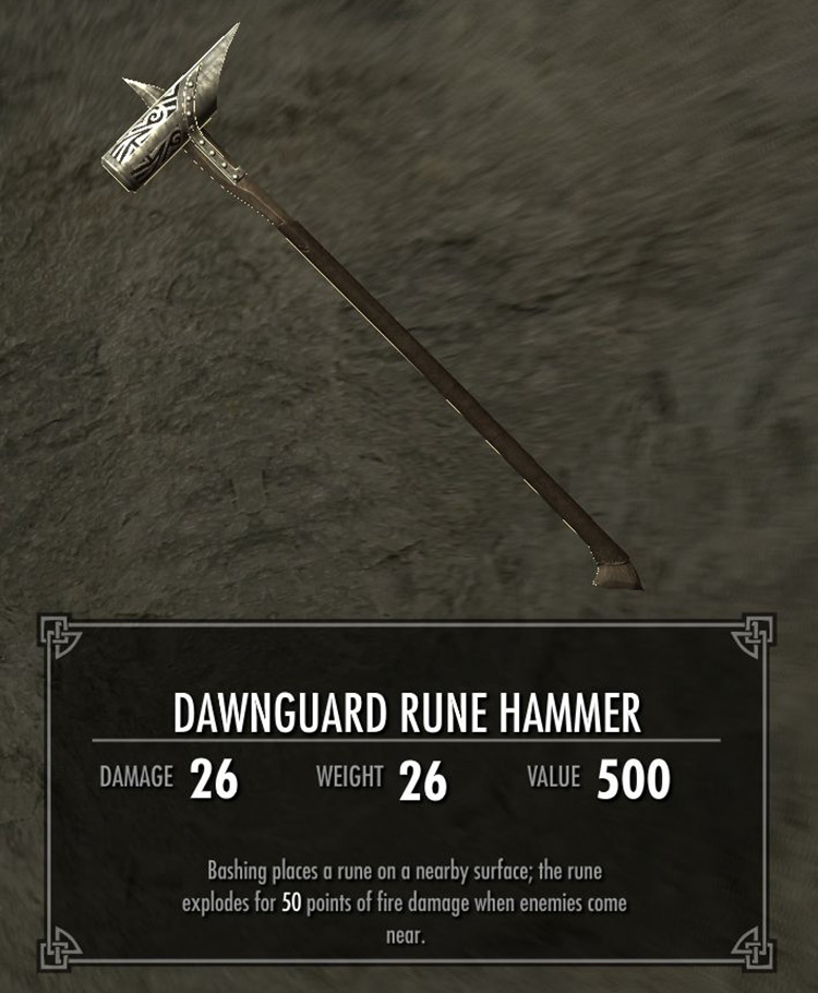 Dawnguard Runehammer in Skyrim