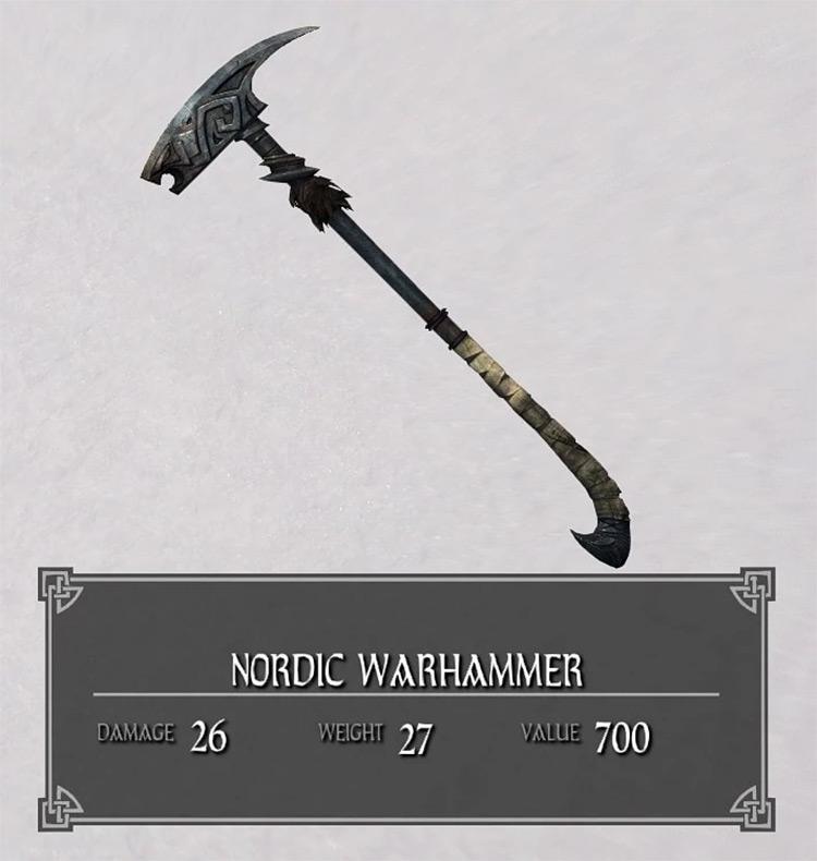 Nordic Warhammer in Skyrim