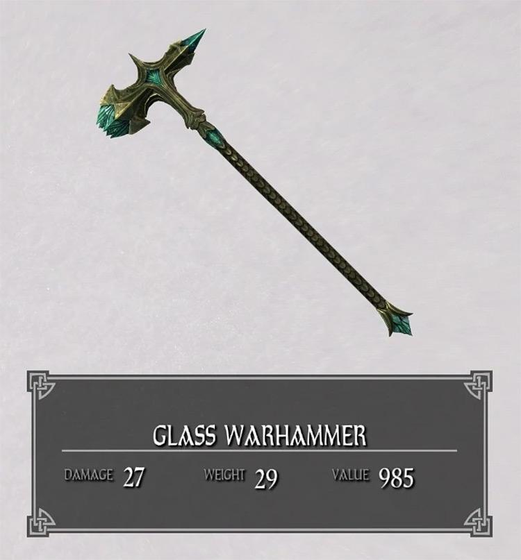 Glass Warhammer in Skyrim