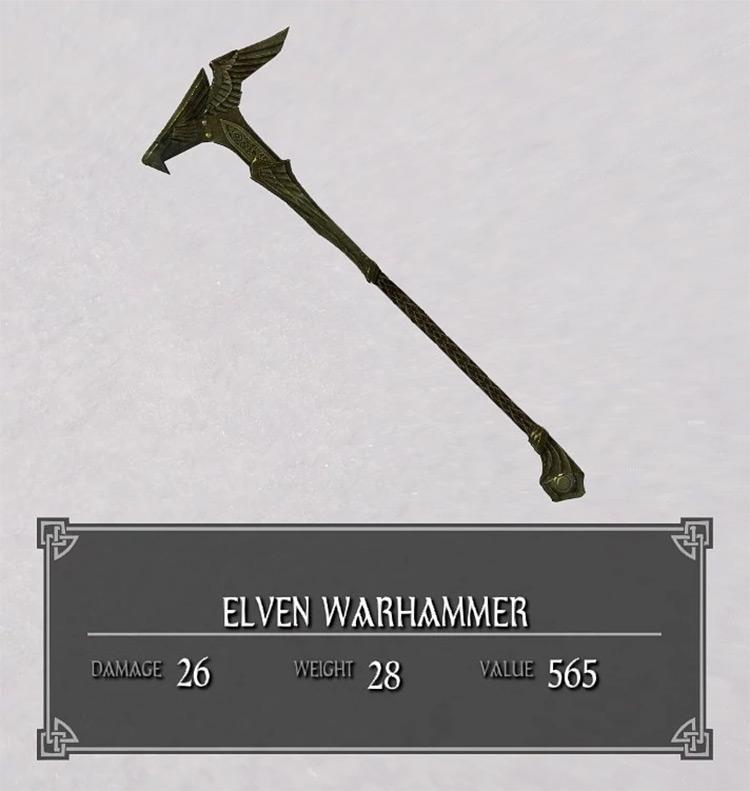 Elven Warhammer in Skyrim