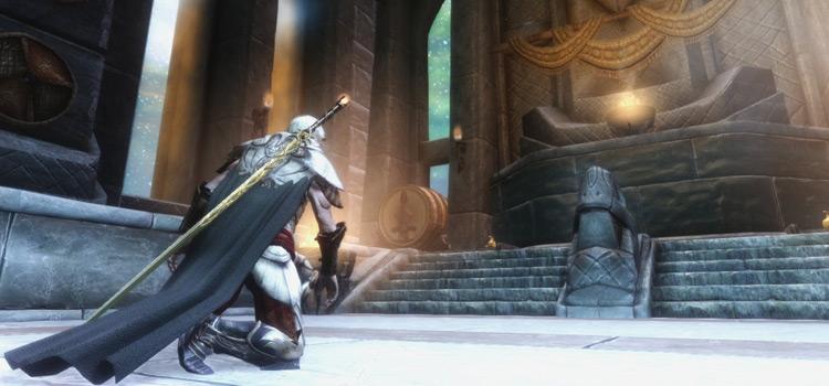 Skyrim warrior kneeling HD screenshot