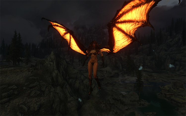 Animated Dragon Wings mod