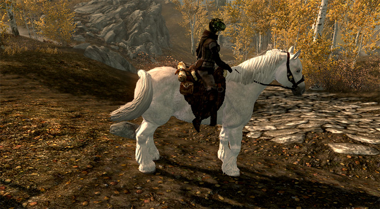 Frost Horse White Retexture mod
