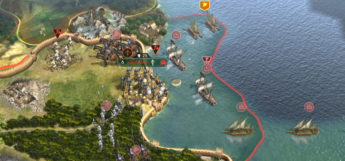 Civilization 5 - land & sea screenshot of gameplay