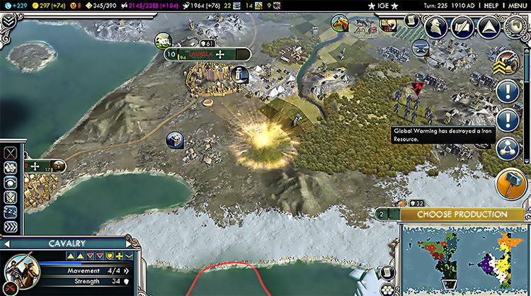 Global Warming Civ5 mod