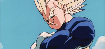 Super Saiyan Vegeta smirking