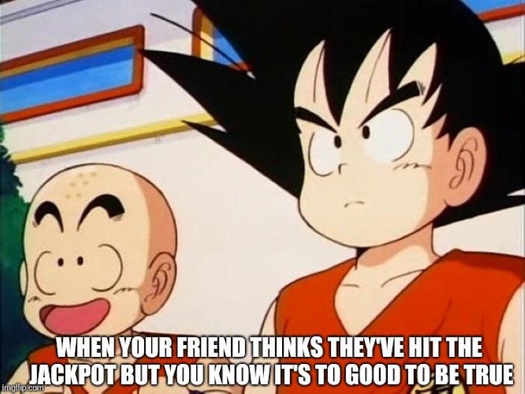 Goku Krillin meme