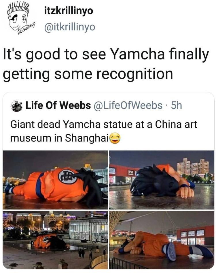 Yamcha statue meme