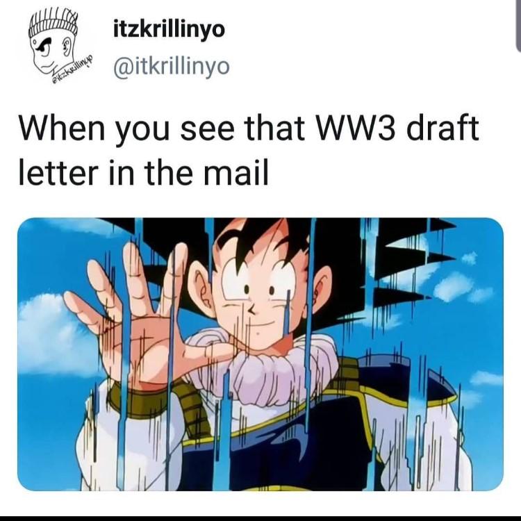 Goku teleporting meme