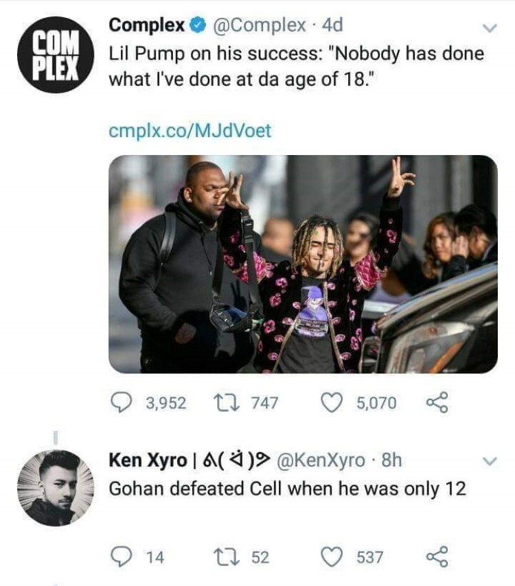 Lil pump DBZ meme