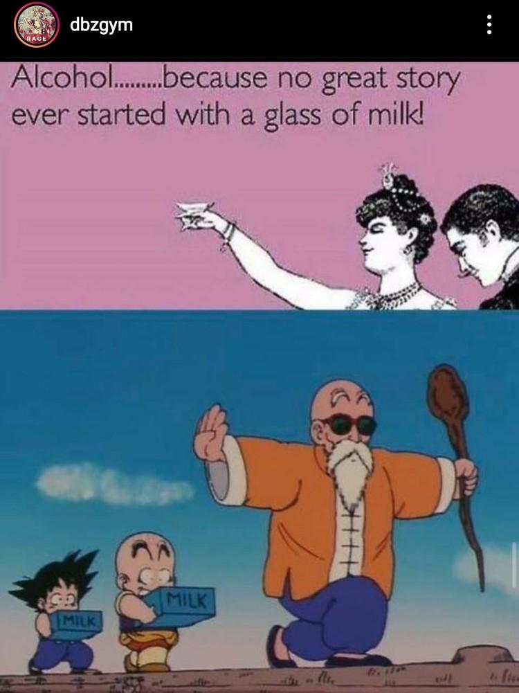 Milk meme dbz