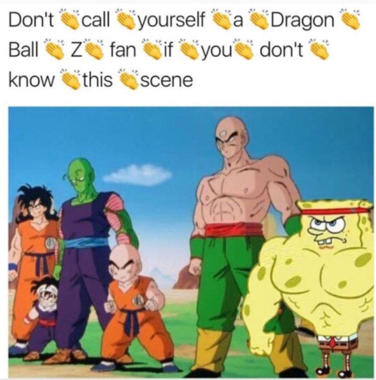 Clap back dbz spongebob crossover