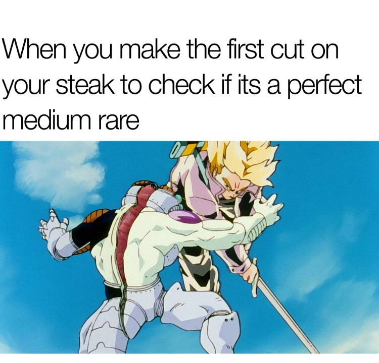 Trunks first cut meme