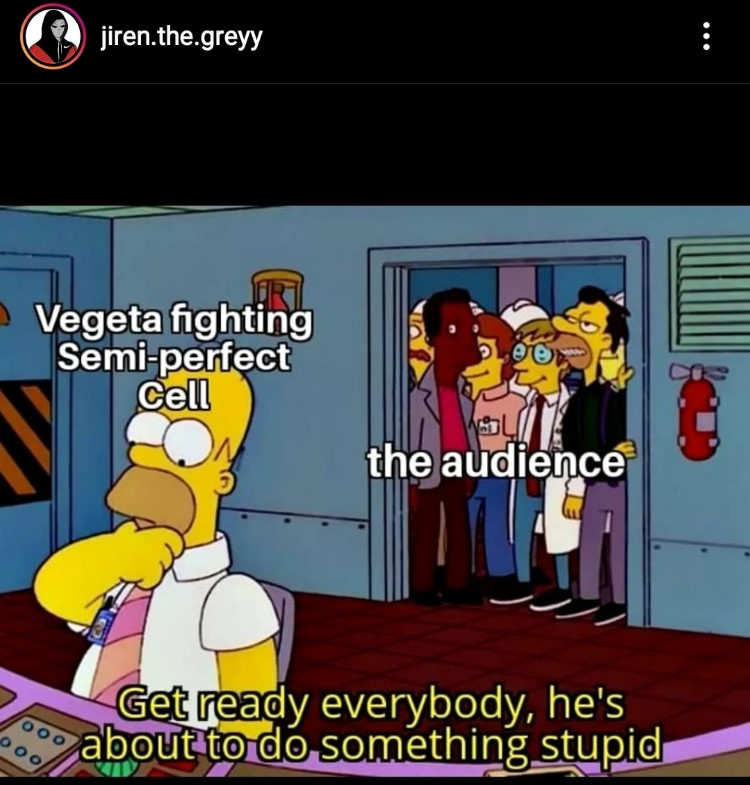 Simpsons DBZ crossover meme Homer simpson