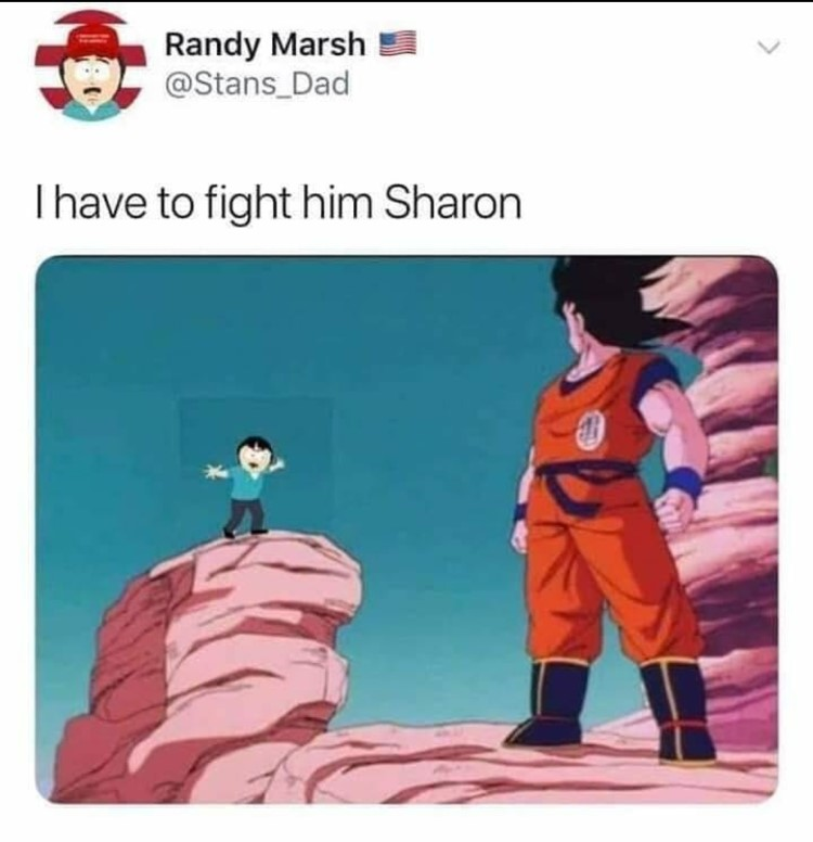 Randy marsh I have to fight him DBZ crossover