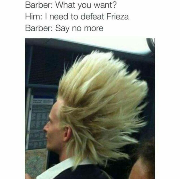 Real life super saiyan hair